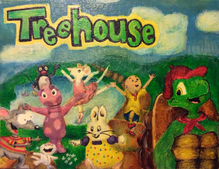 Treehouse Characters - using egg tempera By: Anna Fan