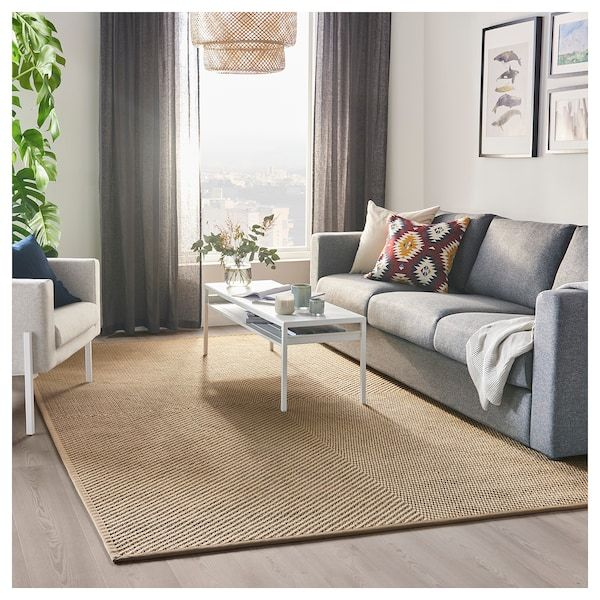 Hellested Rug Flatwoven Natural Brown 6 7 X9 10 Flatwoven Living Room Carpet Ikea Rug
