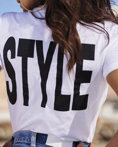 Best Casual Letter T Shirt With Funny Sayings For Women Images