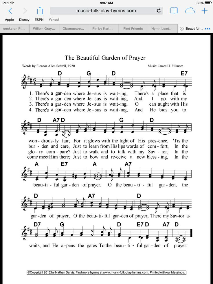 Oh The Beautiful Garden Of Prayer Hymns Psalms And Spiritual Song 39 S Pinterest Gardens