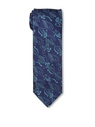 Massimo Bizzocchi Men's Floral Tie, Blue