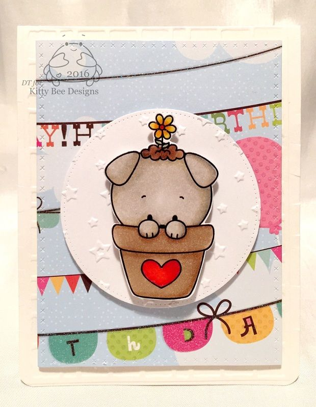 My DT spotlight for Kitty Bee Designs using this super cute image