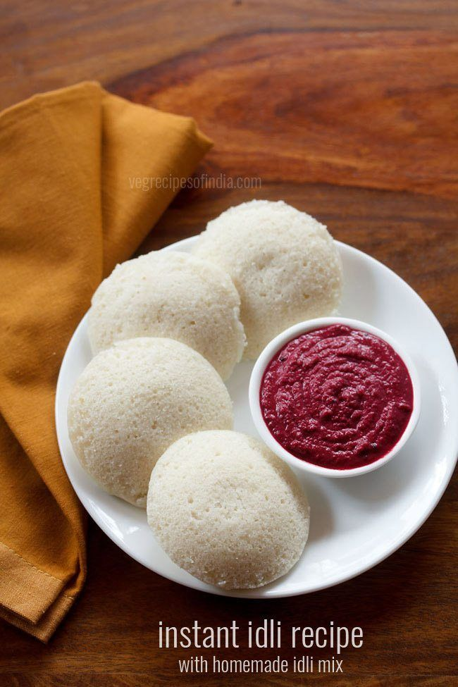 Instant idli recipe - Quick and instant recipe of idli with homemade instant mix. no fermentation required.