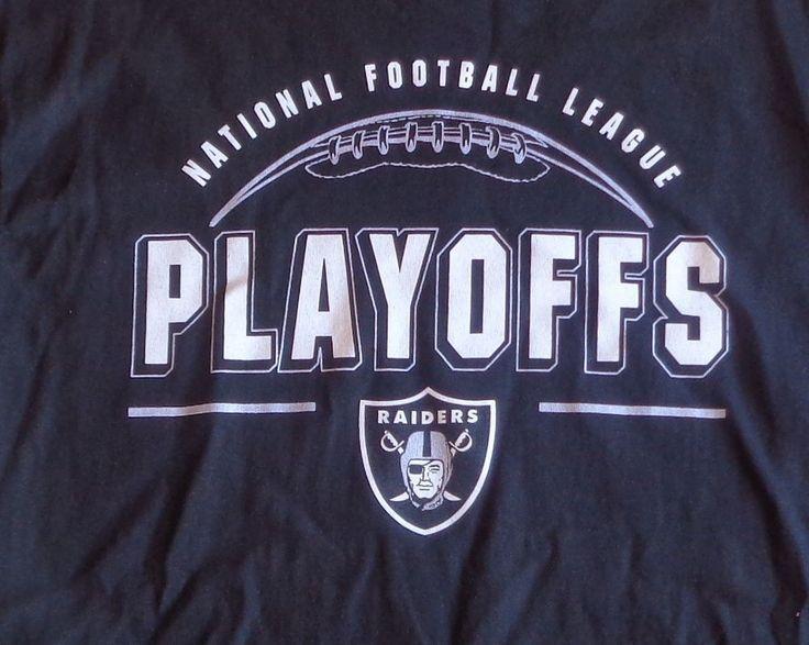 RAIDERS T-shirt Oakland Raiders PLAYOFFS Mens Large T-Shirt #TeamApparel #GraphicTee