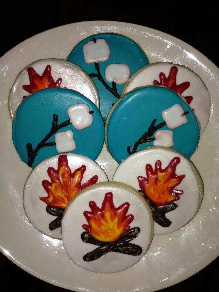 Bon Fire cookies by Becky Magness Kasten.  (Campfire  Marshmallows)