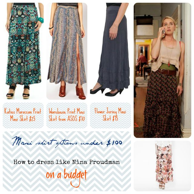 Offspring : How to dress like Nina Proudman on a budget Maxi skirts under $100 Kimbalikes.com