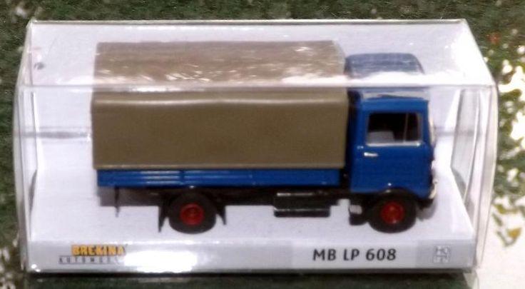 Brekina 48500 MB LP 608, blau LKW  Transporter mit Plane