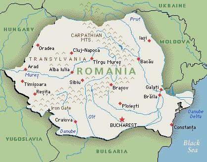 Romania Map: Google Map of Romania