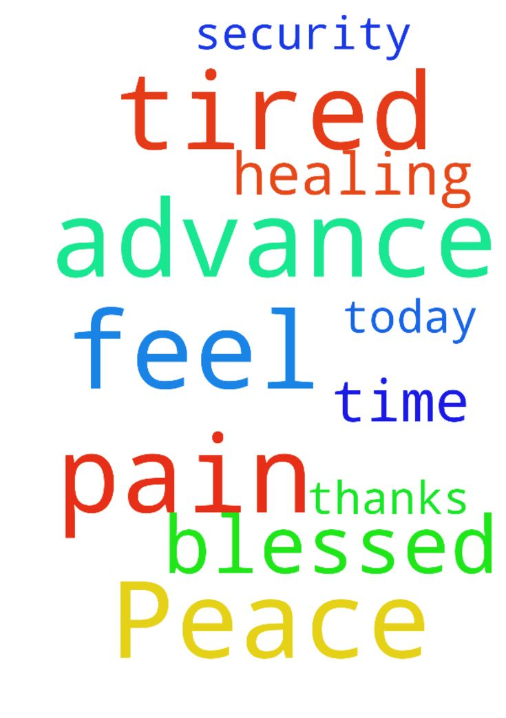 Peace and security -  Please pray that today is blessed and I have healing I feel so tired and in such pain all the time thanks in advance for your prayers  Posted at: https://prayerrequest.com/t/SIA #pray #prayer #request #prayerrequest