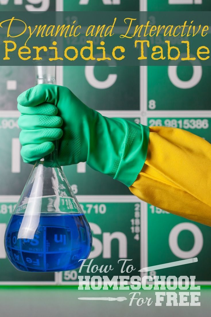 Check out this Free Dynamic and Interactive Periodic Table - Perfect for Chemistry Students! via @survivingstores