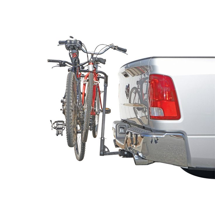 $39.99: Two Bike Hitch Mount Rack. Also includes a handy swing-down feature providing hassle-free access to any rear hatch or tailgate.