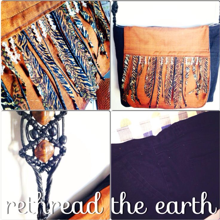 Upcycled denim and animal print messenger bag by rethread the earth. Wooden and glass bead details.  Facebook.com/rethreadtheearthbyeiwozdesign :)