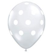 Image of Ballon transparent à pois blancs