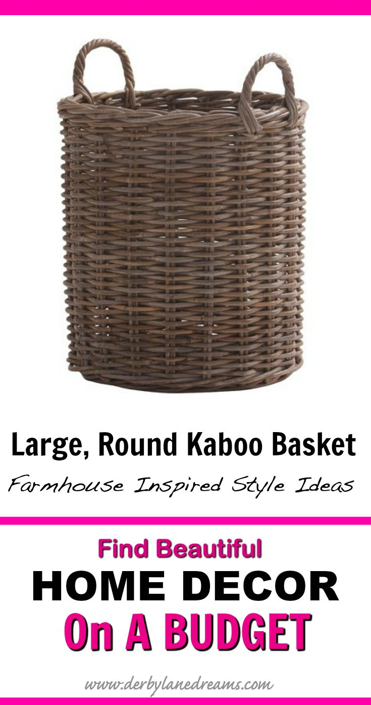 This basket would be really great in the living room for storage.  Can be used for kids' toys, pillows and blankets, pet toy storage, etc.  So useful!   #homedecor #home #homedecorideas #interior #ad #budget #love #rustic #farmhouse #livingroom #bedroom #library #apartment #easy #ideas #modern #boho #furniture #basket