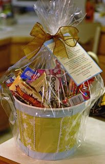 """Cute Gift Idea..."""" Cute 40th or 50th or 60th birthday gift and poem...""""To celebrate and turning 40 is nothing to SNICKER about. In fact, this is when you have BUTTERFINGERS And your mind starts playing TWIX on you. You're WHATCHAMACALLIT isn't working properly, You'll do things NOW & LATER And forget them both....."""""""
