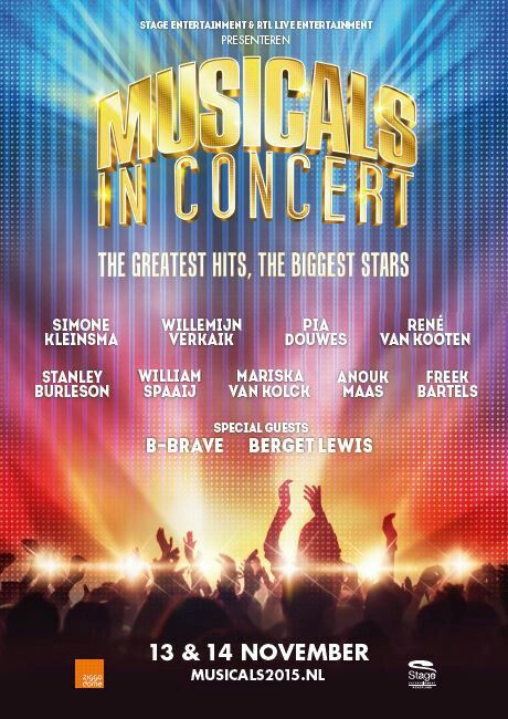 All the names of Musicals in Concert! Can't wait ♡
