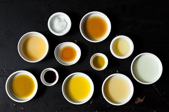 Cooking oils article on Food52 - some of the info is a no-brainer for experienced cooks, but it's a great refresher course.