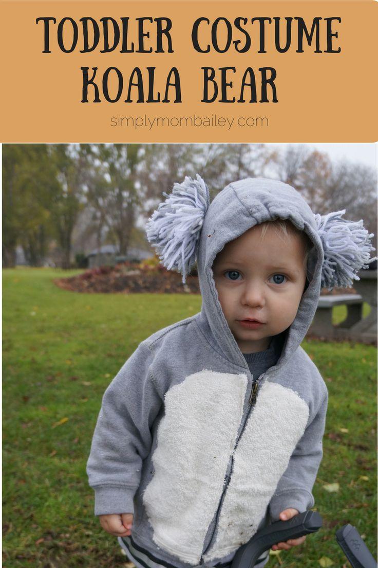 Easy DIY Toddler Costume - Toddler Koala Bear