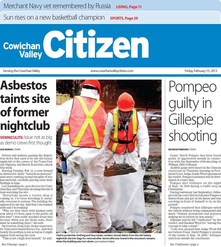 Citizen Front Page Feb. 15, 2013