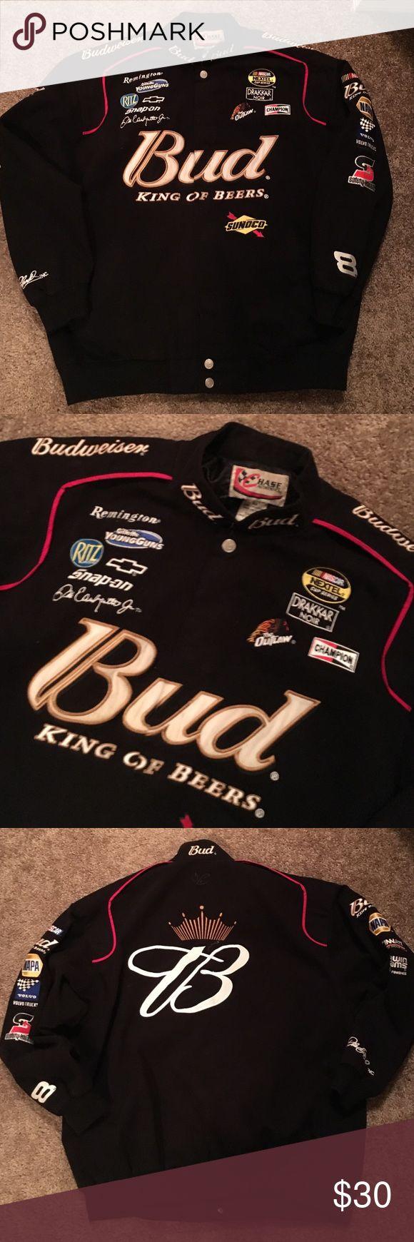 Budweiser NASCAR Jacket Sz XL Men's Budweiser NASCAR Jacket Sz XL NASCAR Jackets & Coats Bomber & Varsity
