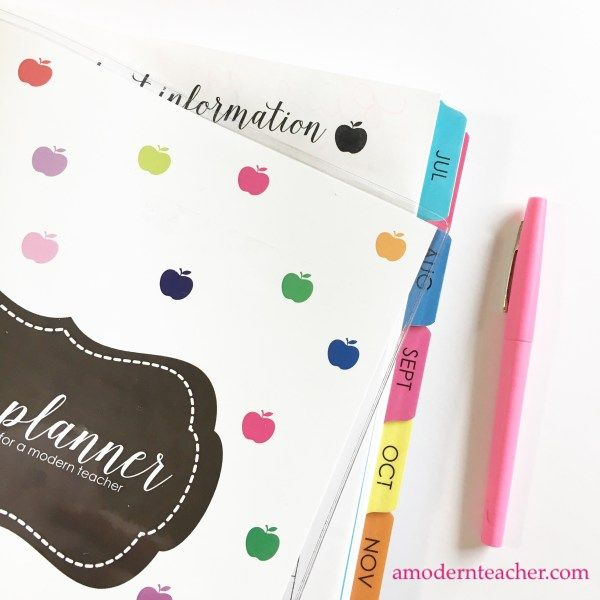 Teacher Lesson Planner printed and bound for you $  from one teacher to another