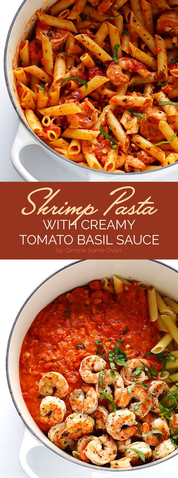 Shrimp Pasta with Creamy Tomato-Basil Sauce   Here's What You Should Eat For Dinner This Week