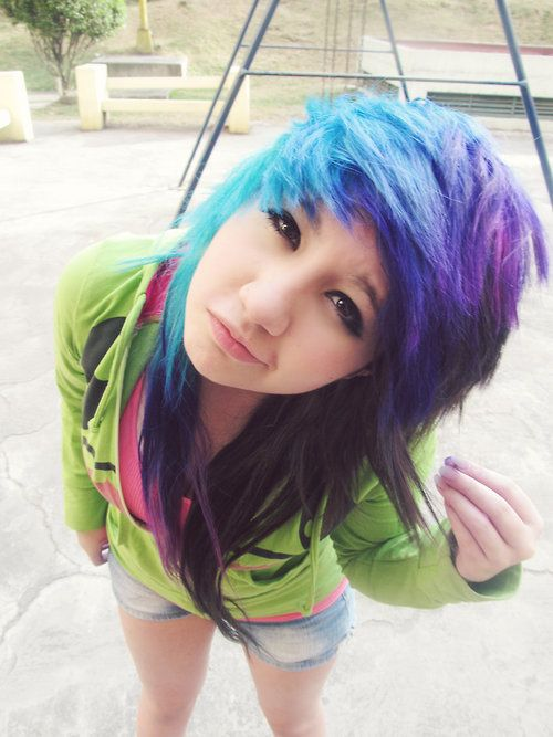 purple and blue scene hair wwwimgkidcom the image