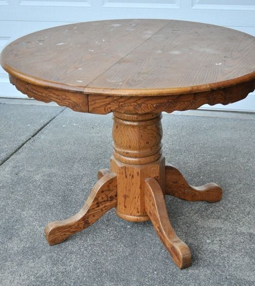 Best 25 Painted Oak Table Ideas On Pinterest Painted Round Tables Redoing Kitchen Tables And