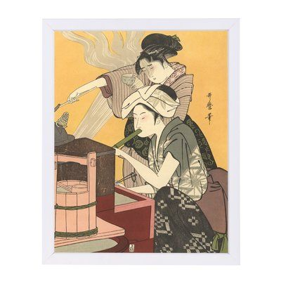 East Urban Home u0027Japanese Women Cookingu0027 Print Format White Paper - white paper format