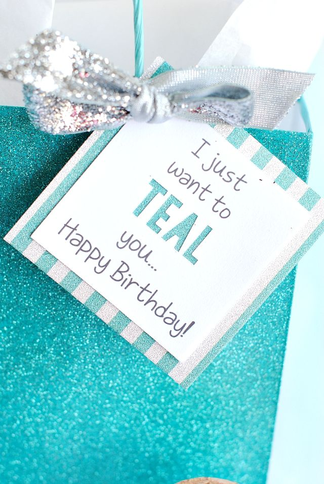 I Just Want to TEAL You Gift Idea for Friend...& WIN a Cricut! - Crazy Little Projects