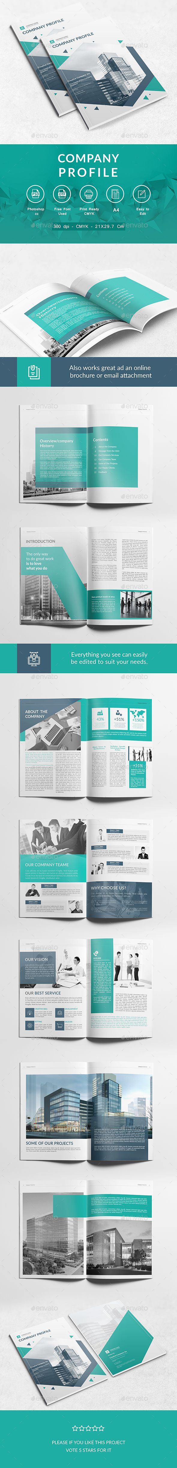 Company Profile  — PSD Template #business #corporate • Download ➝…