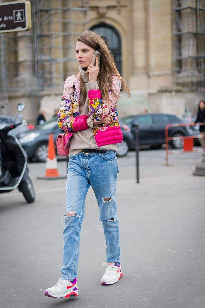 8507347ea998 This Is How to Wear Running Shoes With Jeans