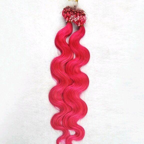 Remy Echthaar Extensions * 200 Stück * 60cm * Pink * 1gr * gewellt * Microring in Beauty & Gesundheit, Haarpflege, Perücke & Haarverlängerungen | eBay