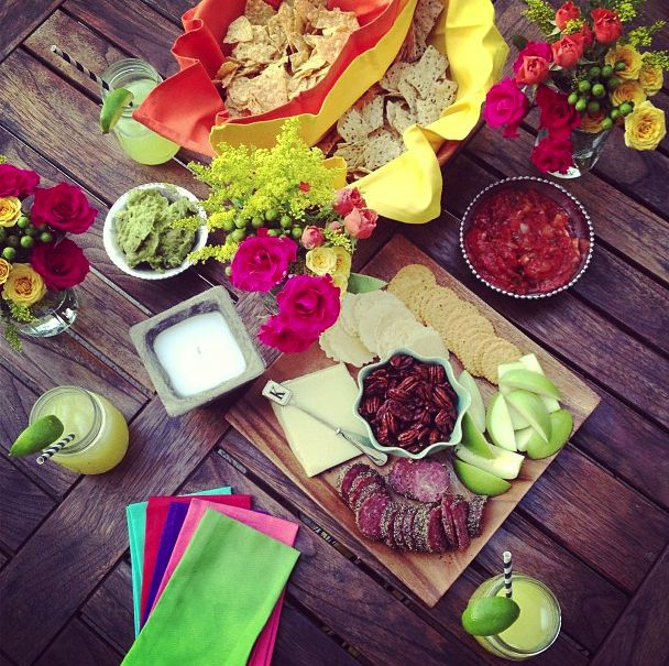 colorful table scape