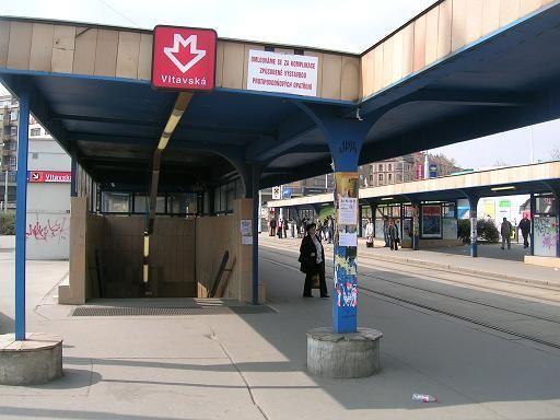Había una estacíon se metro que se llamaba Vltavská