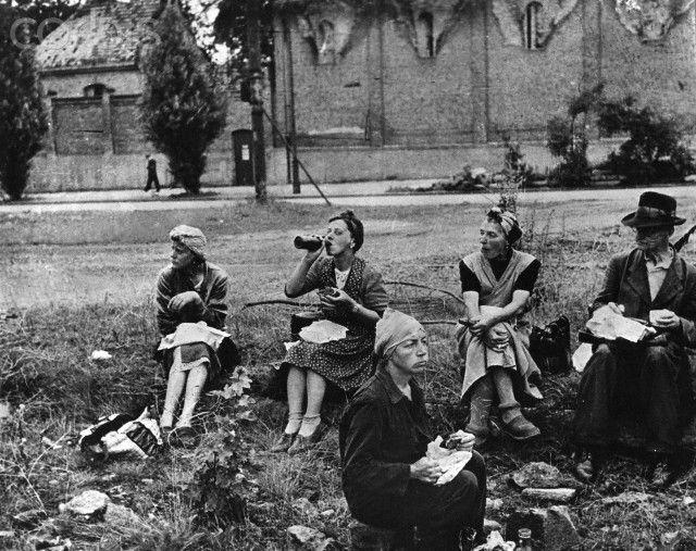Post-war era - Trümmerfrauen (rubble women)