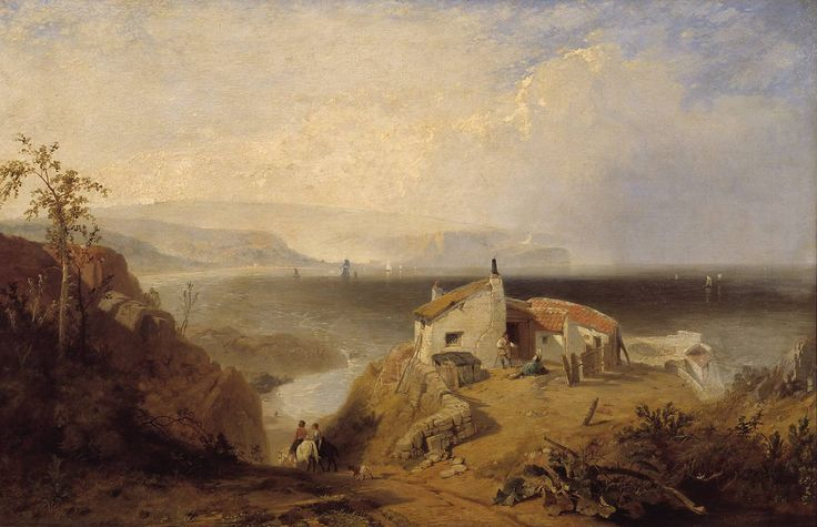 'The Mulgrave Alum Works at Sandsend, Yorkshire Coast', James Baker Pyne | Tate