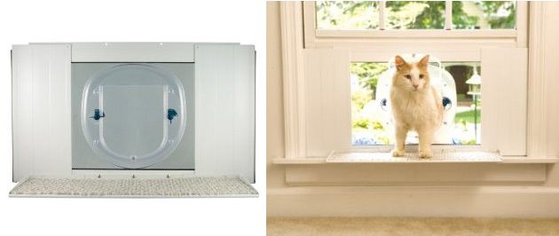 Do you want a cat door but dont want to harm your doors or windows?  The PetSafe Cat Wi...