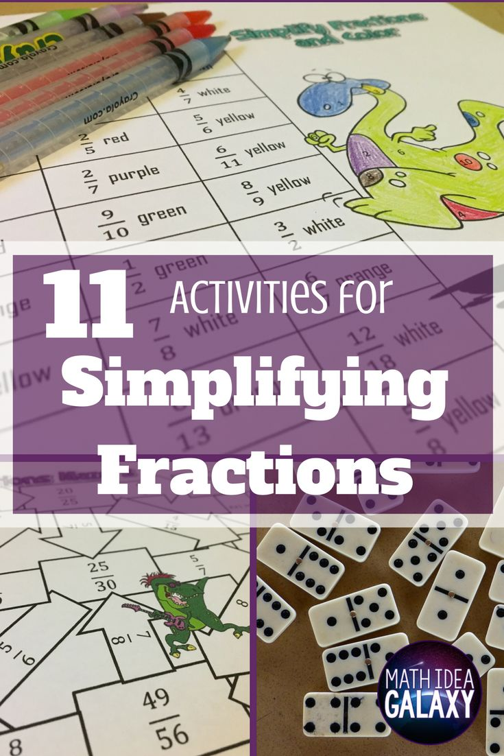 Check out all 11 fun simplifying fractions activities. Students will love them!