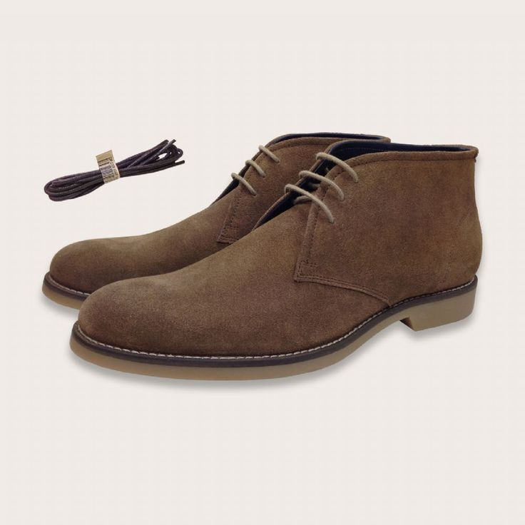 Tobacco Tan Suede Lace Up Desert Boots - Sloane | Coogan London http://