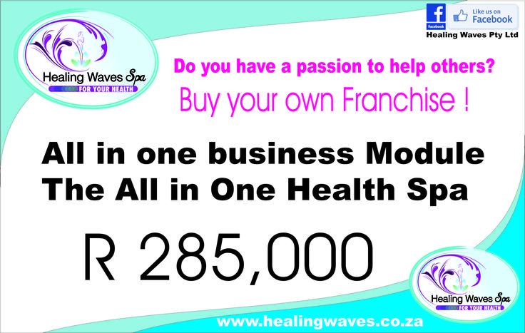 Why not help other people and make a living by doing so ?? Purchase your own Healing Waves franchise and make a difference