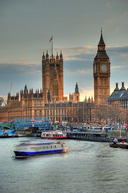 Parliament on The Thames, London