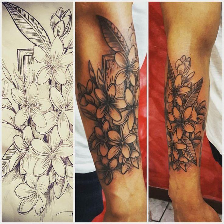 6afa4a0cf Plumeria Flower Tribal Leg Drawings | Gardening: Flower and Vegetables