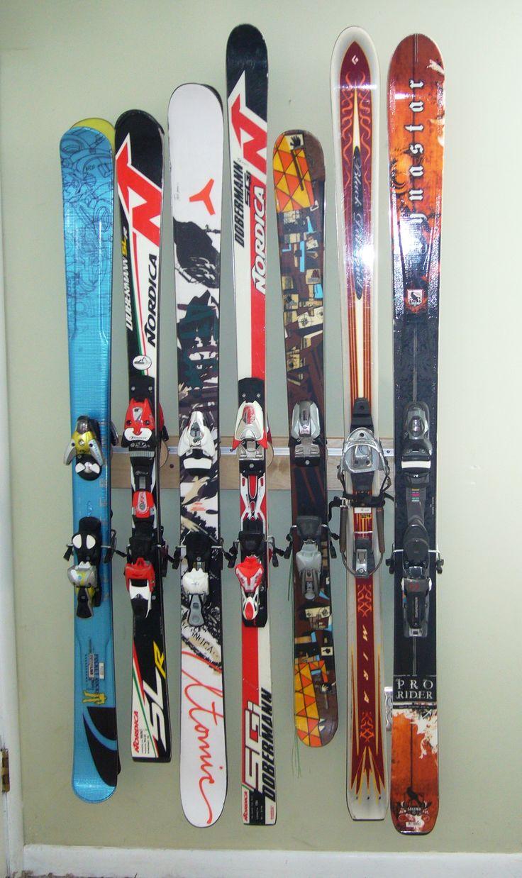 Garage Ski Storage Rack. See The Totti Button Ski Rack At Www.buttonskirack.