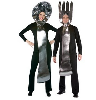 Funny Couple Halloween Costumes - Fork And Spoon Costume