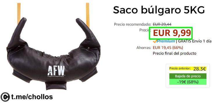 Saco búlgaro de 5KG disponible por sólo 999 - http://ift.tt/2qWXEVK