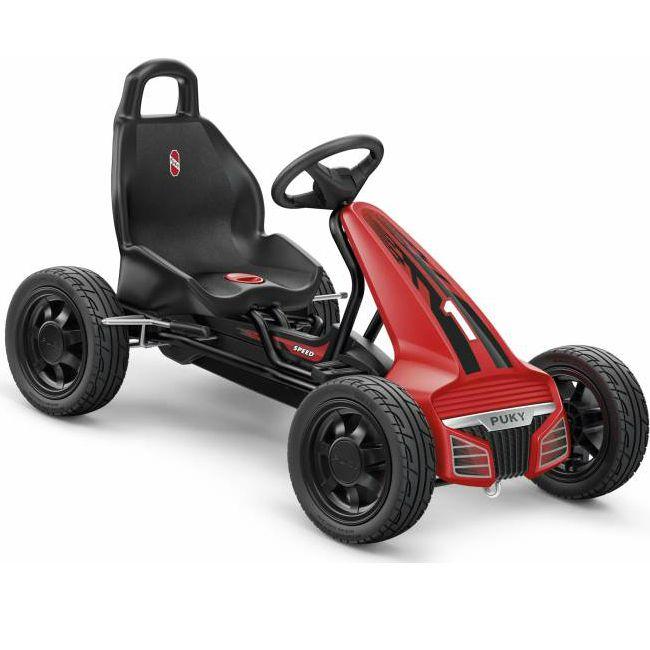 Puky GoKart F550 är den perfekta trampbilen för barn som gillar att tävla eller att köra racing och för alla barn som gillar att leka, motionera och upptäcka världen på egen hand.  Trampbilen är lämpad för barn från 4 år. Denna trampbil i klassisk gokart design är utrustad stabil ramkonstruktion och frihjulsfunktion vilket gör att man kan köra både framåt och bakåt, dessutom behöver handen inte tas ifrån ratten så att båda händerna kan hålla i ratten.  Denna trampbil från Puky är utrustad…