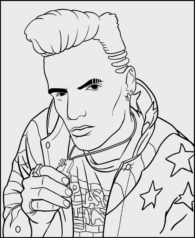 Vanilla Ice Coloring Page In Bun Bs Jumbo Colouring Book