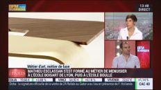 """4 mai 2015 : Ébéniste de talent, Mathieu Esclassan est Coopanamien """"Métiers d'art, Métiers de luxe: Ebéniste contemporain, Mathieu Esclassan – Sur BFM TV"""""""
