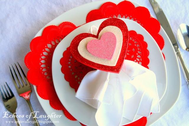 valentine heart napkin folding